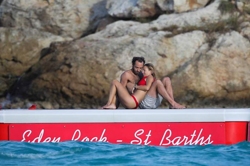 James Middleton et sa girlfriend, la Française Alizee Thevenet, à Saint-Barth, le 2 janvier 2019