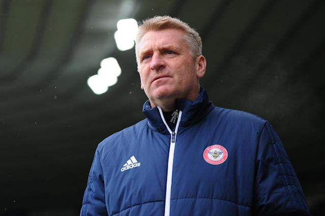 West Brom target Brentford manager Dean Smith following Premier League relegation