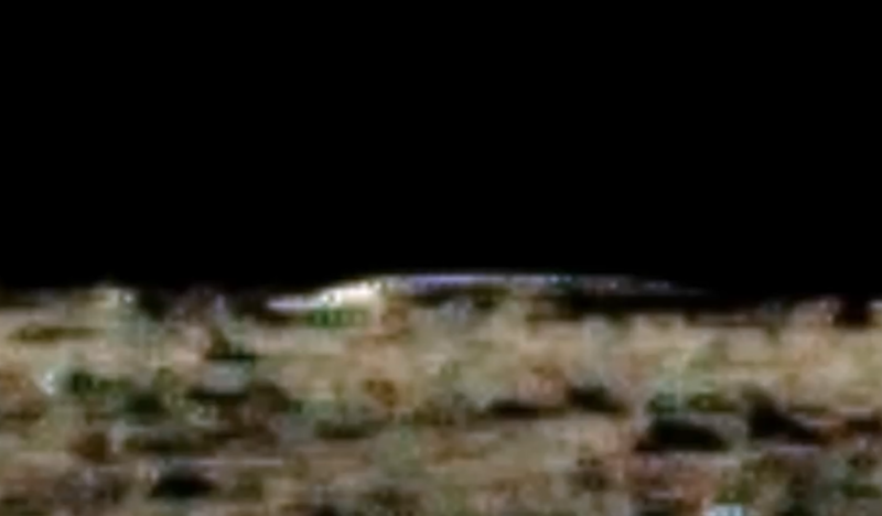Is this an 'alien ship' on the moon? Photo: Youtube