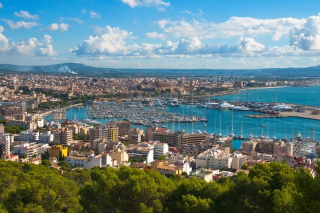 The City Palma de Majorca from a bird's eye view