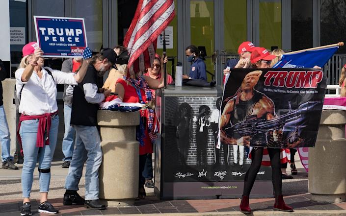 Trump supporters in Atlanta, Georgia are keeping the faith - GETTY IMAGES