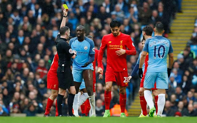 <span>Yaya Toure was lucky to get away with a yellow card</span> <span>Credit: reuters </span>