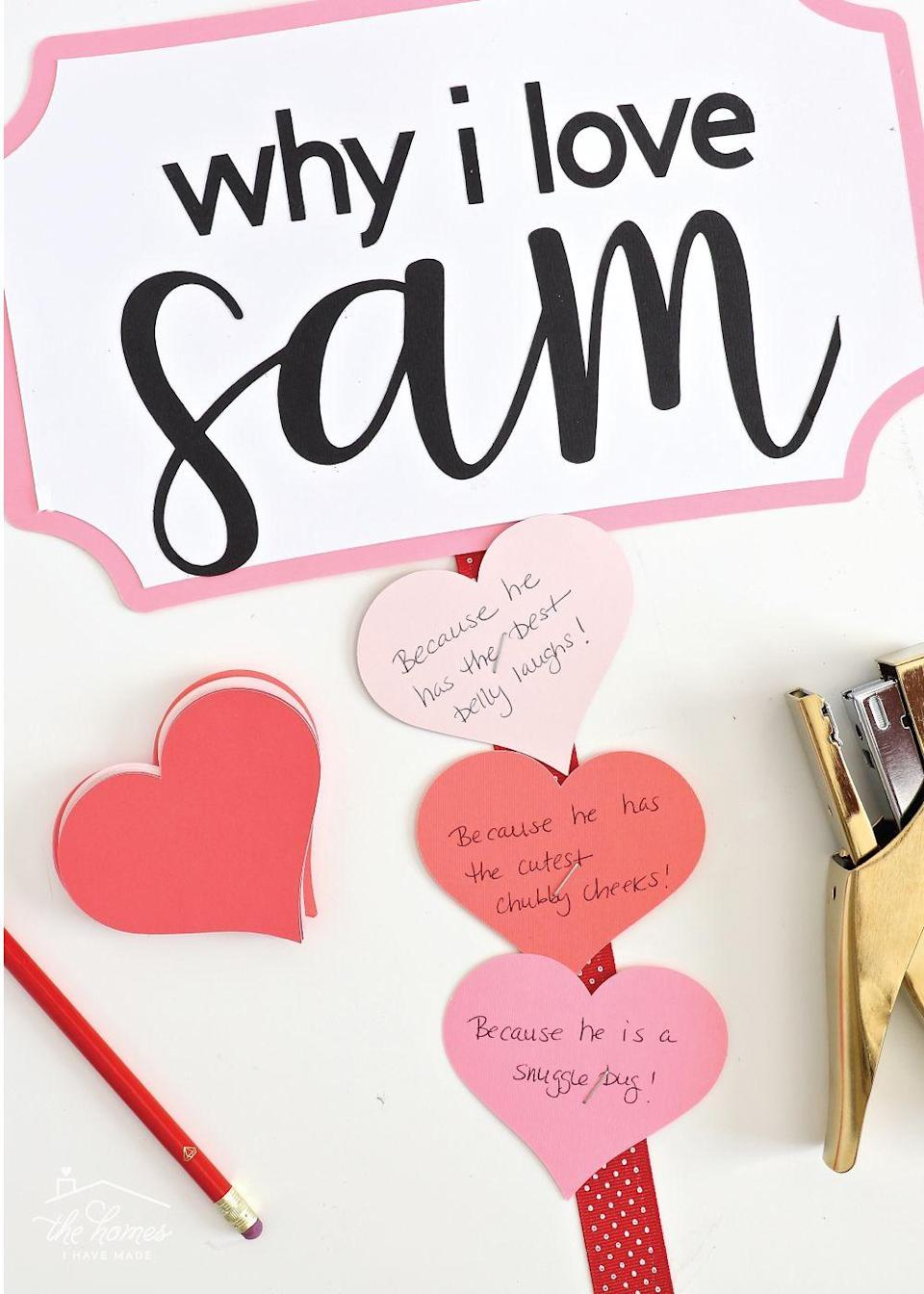 "<p>How do you love your significant other/friend/child? These DIY cards will let you count the ways! The best thing about this project is that it allows you to add new heart-shaped love notes every day—not just on Valentine's Day.</p><p><strong>See more at <a href=""https://thehomesihavemade.com/2019/01/daily-valentine-love-notes/"" rel=""nofollow noopener"" target=""_blank"" data-ylk=""slk:The Homes I Have Made"" class=""link rapid-noclick-resp"">The Homes I Have Made</a>. </strong></p><p><a class=""link rapid-noclick-resp"" href=""https://go.redirectingat.com?id=74968X1596630&url=https%3A%2F%2Fwww.walmart.com%2Fip%2FPost-it-Heart-Shape-Notes-3-x-3-Assorted-Colors%2F17792846&sref=https%3A%2F%2Fwww.thepioneerwoman.com%2Fhome-lifestyle%2Fcrafts-diy%2Fg35084525%2Fdiy-valentines-day-cards%2F"" rel=""nofollow noopener"" target=""_blank"" data-ylk=""slk:SHOP HEART-SHAPED POST-ITS"">SHOP HEART-SHAPED POST-ITS</a></p>"