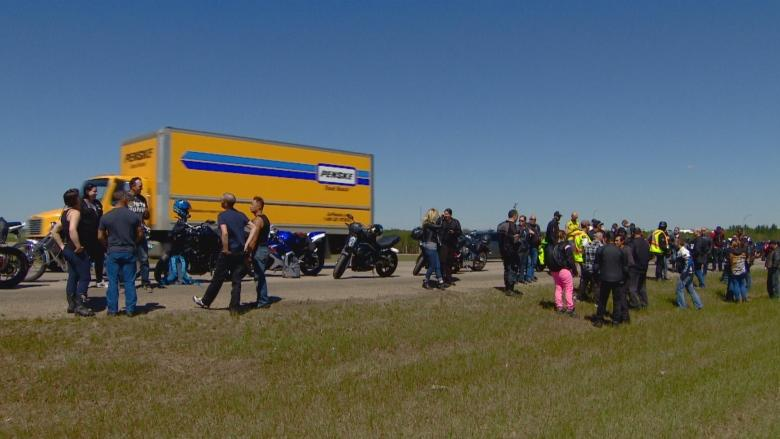Motorcyclists' memorial ride commemorates father killed in Anthony Henday crash