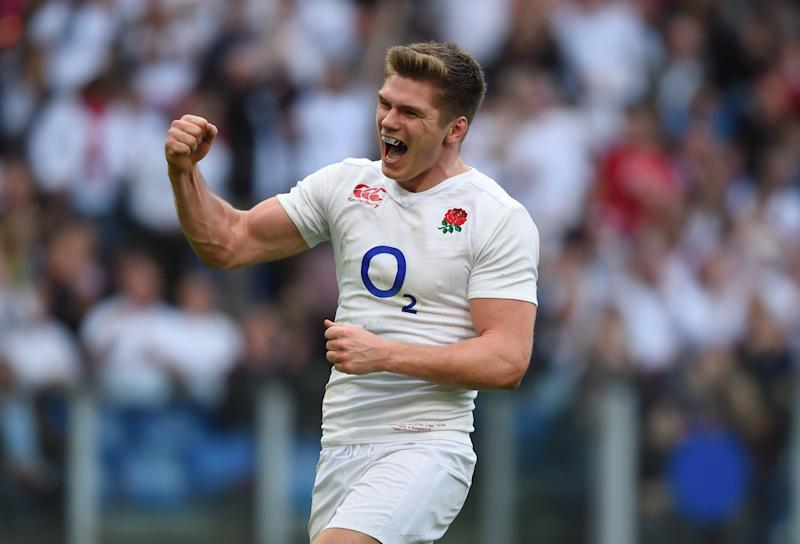 Owen Farrell leads England in their Six Nations clash with Italy (Getty)