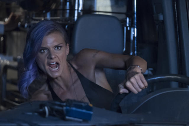 Eliza Coupe as Tiger in <em>Future Man </em>(Photo: Erin Simkin/Hulu)