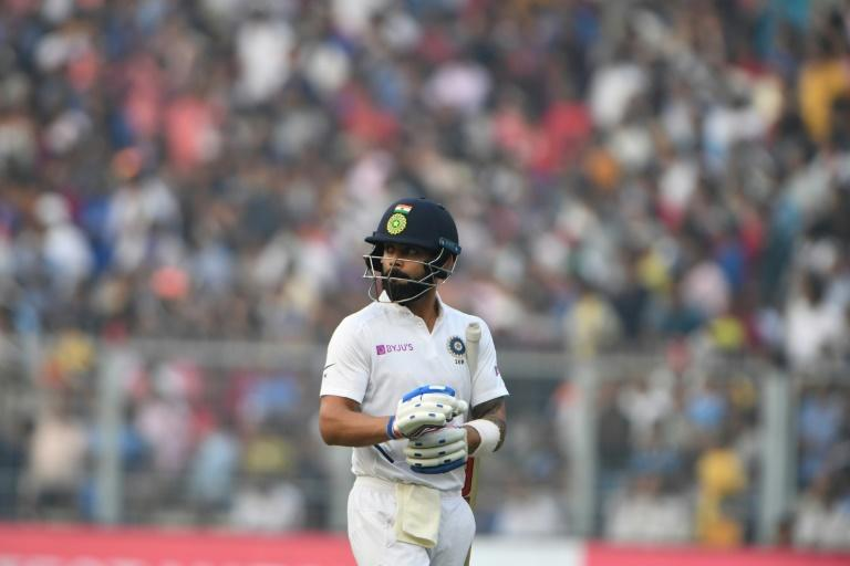 India's captain Virat Kohli could scarcely believe his eyes after being caught down fine leg for 136 against Bangladesh in Calcutta