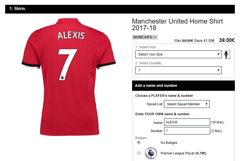 huge selection of d94c5 05c32 How much will a Man Utd shirt with Alexis Sanchez on the ...