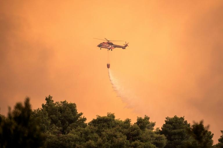 Over 200 firefighters have tried to control the blaze alongside water-bombing helicopters and 75 firetrucks (AFP Photo/ANGELOS TZORTZINIS)