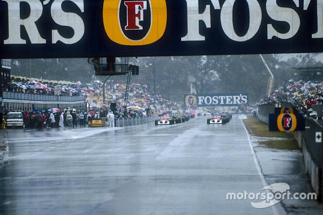 "The grid lines up ready for the start in the very wet conditions <span class=""copyright"">Motorsport Images</span>"