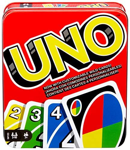 UNO: Family Card Game, with 112 Cards in a Sturdy Storage Tin, Travel-Friendly, Makes a Great Gift for 7 Year Olds and Up [Amazon Exclusive] (Amazon / Amazon)