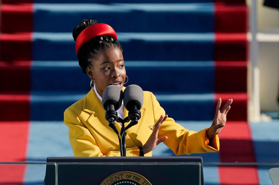 <p>The poet Amanda Gorman, who won fame with her performance at President Biden's inauguration, tweeted her support for Meghan Markle.</p> (Getty Images)