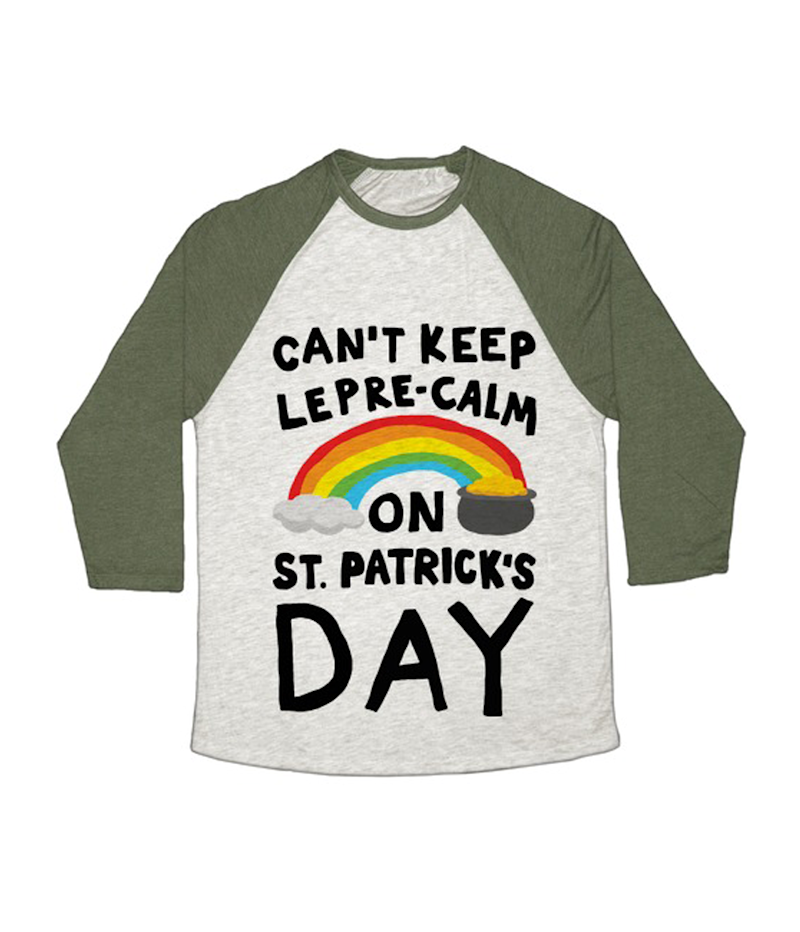 33c3f0682 Look Human Can't Keep Lepre-Calm On St. Patrick's Day Baseball Tee