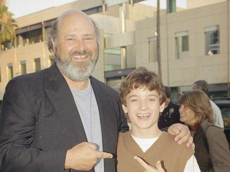 Director Rob Reiner with Elijah Wood.