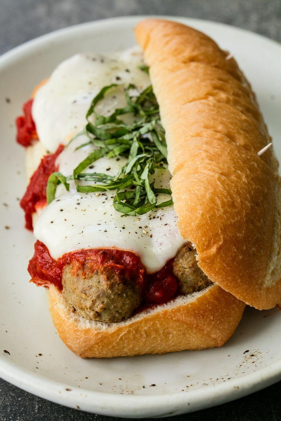 """<p>Our love for chicken parm knows no limits.</p><p>Get the recipe from <a href=""""https://www.delish.com/cooking/recipe-ideas/recipes/a53592/chicken-parm-meatball-subs-recipe/"""" rel=""""nofollow noopener"""" target=""""_blank"""" data-ylk=""""slk:Delish"""" class=""""link rapid-noclick-resp"""">Delish</a>. </p>"""