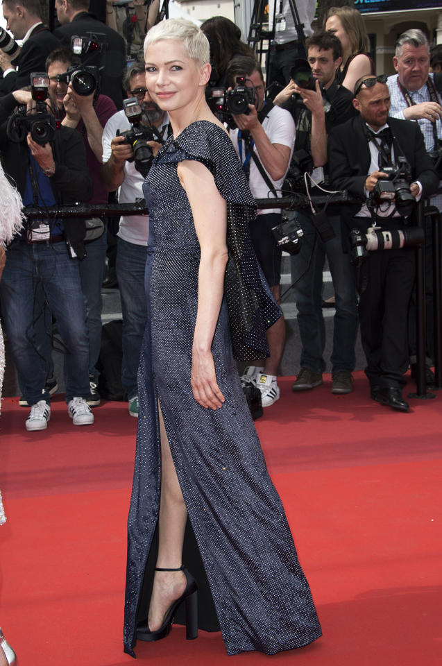 "<p><a rel=""nofollow"" href=""https://www.yahoo.com/movies/tagged/michelle-williams"">Michelle Williams</a> at the <a rel=""nofollow"" href=""https://www.yahoo.com/movies/tagged/cannes-film-festival"">Cannes Film Festival </a>screening of <a rel=""nofollow"" href=""https://www.yahoo.com/movies/film/wonderstruck""><em>Wonderstruck</em></a> on May 18, 2017 (Photo: Arthur Mola/Invision/AP) </p>"