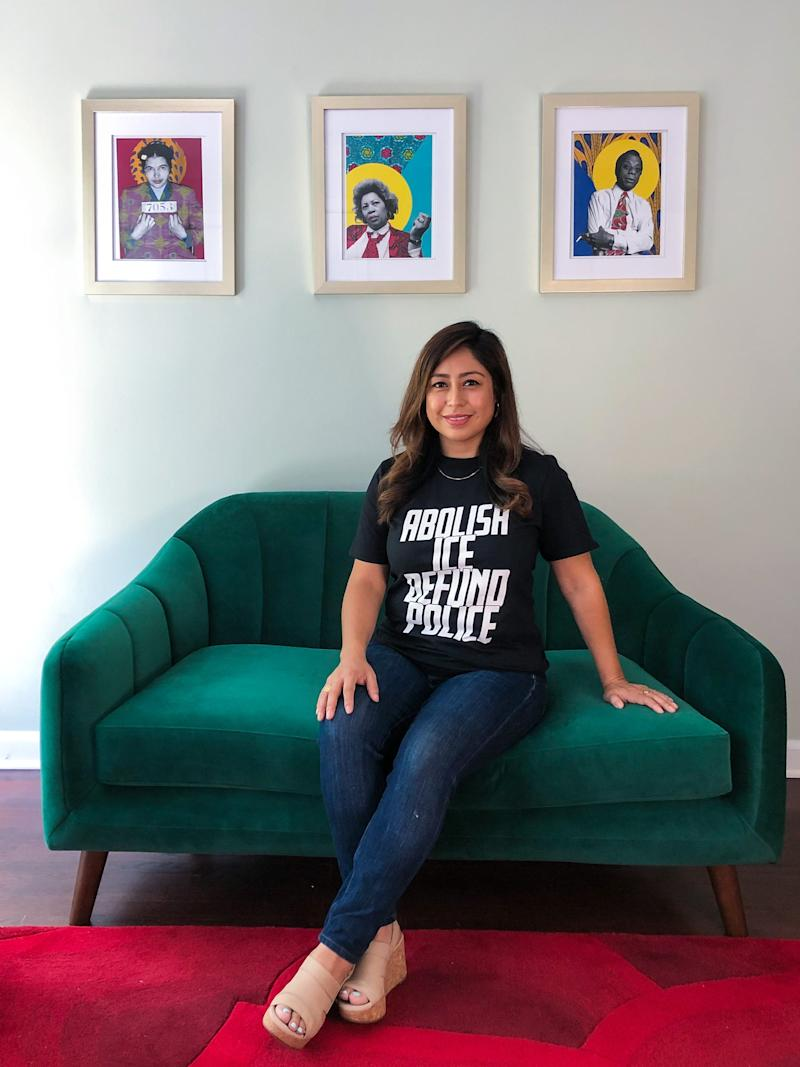 Cristina Jiménez Moreta poses for a portrait in her home in New Rochelle, N.Y., on July 21, 2020. Jiménez Moreta is co-founder of United We Dream, which works to help DACA recipients get, and succeed at, a college education.