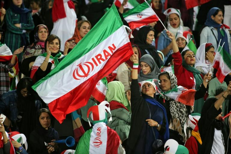 Women were allowed to attend Iran's World Cup qualifier against Cambodia last month