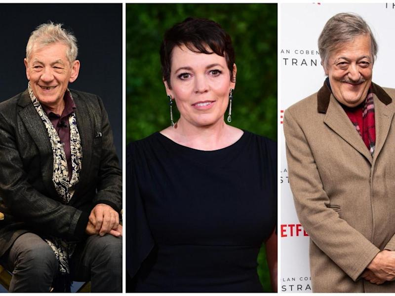 Stars Ian McKellen, Olivia Colman and Stephen Fry have drawn attention to our campaign: PA