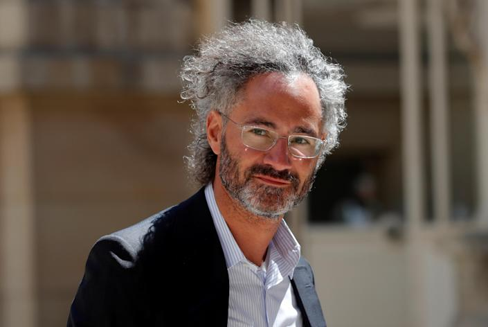 """Palantir Technologies CEO Alex Karp arrives at the """"Tech for Good"""" Summit in Paris, France May 15, 2019. REUTERS/Charles Platiau"""