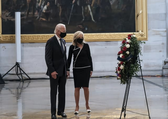 Wife Jill Biden is thought to be influential in the decision-making process (Michael A. McCoy/AP)