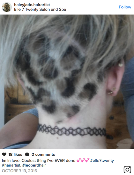 Leopard print hair is the latest hair color trend to blow up Instagram. Here's how to get the spotted style.