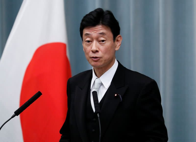 Japan economy minister: Hope exports, output will improve after U.S.-China trade deal