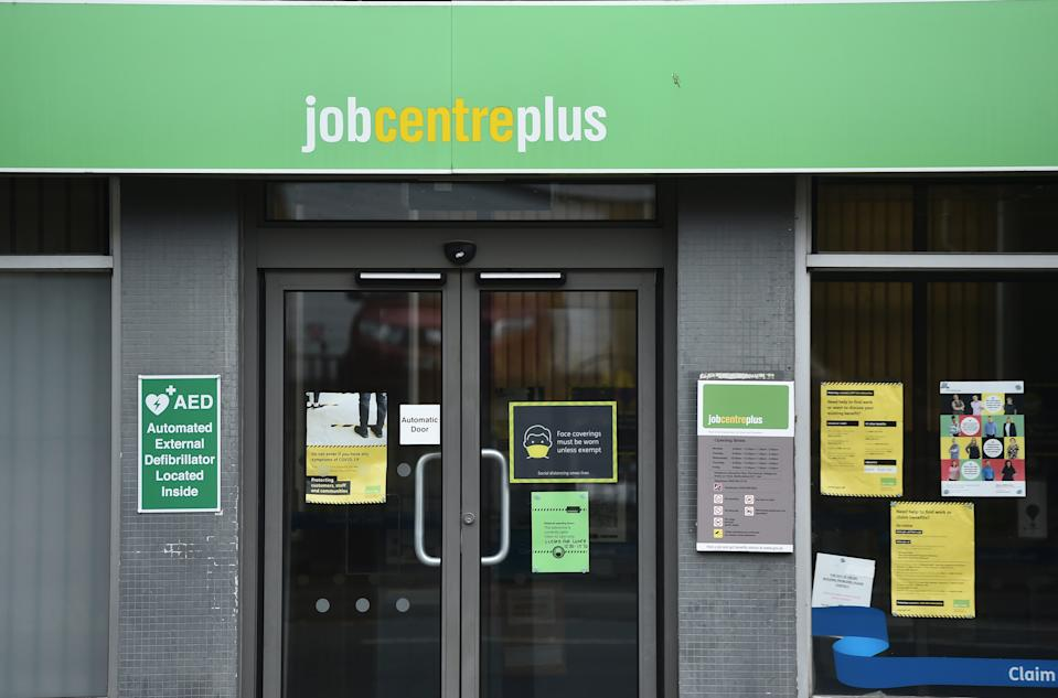 A jobcentre employment office in Tunstall, England. Photo: Nathan Stirk/Getty
