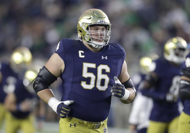 Notre Dame offensive lineman Quenton Nelson is considered one of the best players in this year's draft. (AP)
