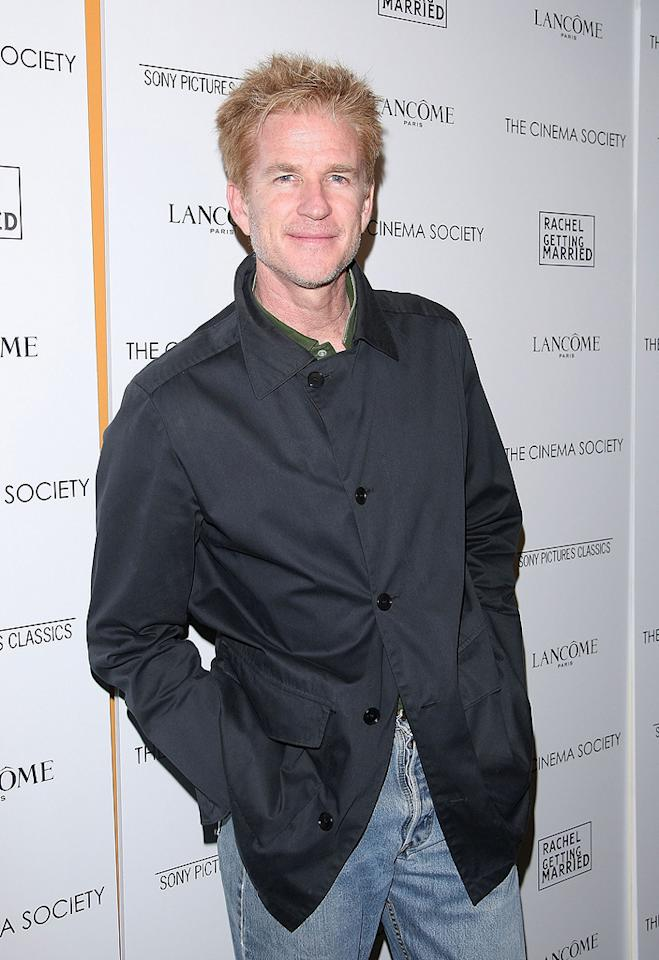 "<a href=""http://movies.yahoo.com/movie/contributor/1800026030"">Matthew Modine</a> at the Cinema Society New York City premiere of <a href=""http://movies.yahoo.com/movie/1809961213/info"">Rachel Getting Married</a> - 09/25/2008"