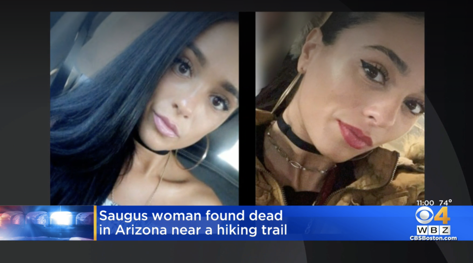 Angela Tramonte was found dead after going on a hike in Arizona. Source: WBZ-TV