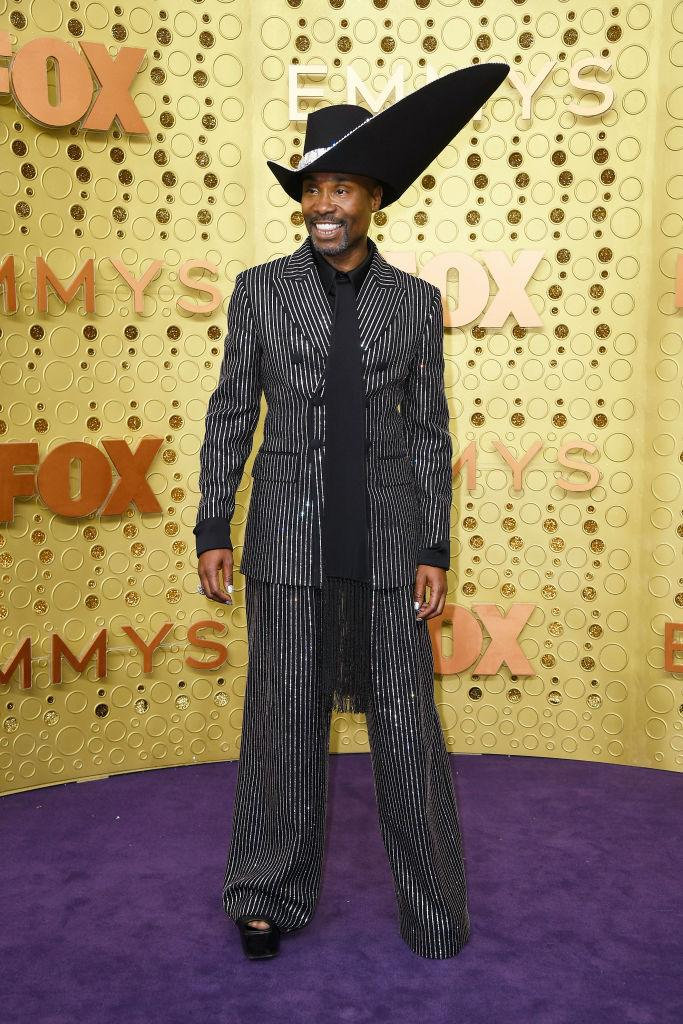 Billy Porter's bespoke Michael Kors suit took over 170 hours to create [Photo: Getty]