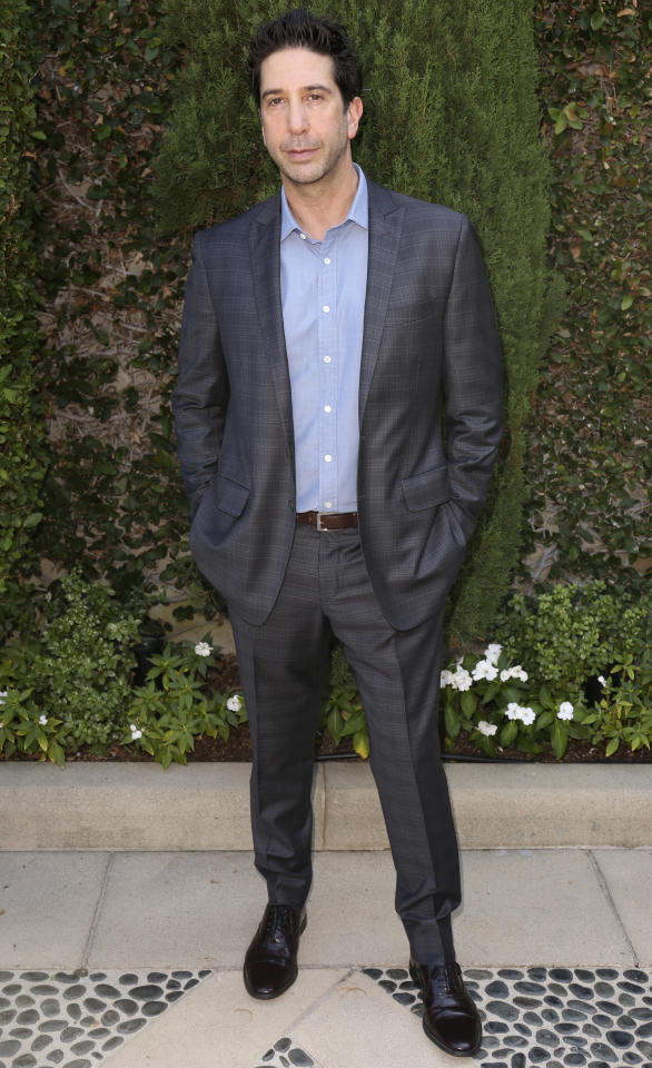 David Schwimmer arrives at The Rape Foundation's Annual Brunch on Sunday, Oct. 8, 2017, in Beverly Hills, Calif. (Photo by Willy Sanjuan/Invision/AP)