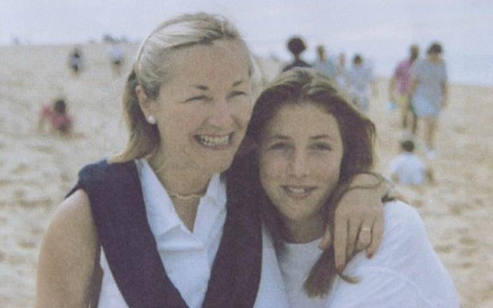 Georgina Fuller with her mother, 'the life and soul of the party'