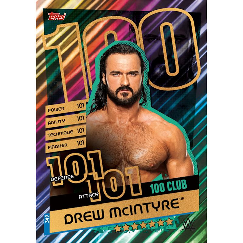 McIntyre has the highest-rated trading card in the WWE's new Slam Attax Reloaded game.