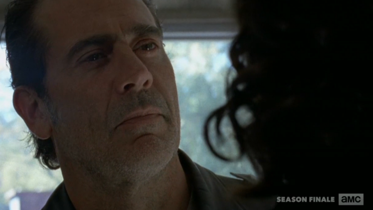 Negan, The King of Slouching and Jawing (played by Jeffrey Dean Morgan)