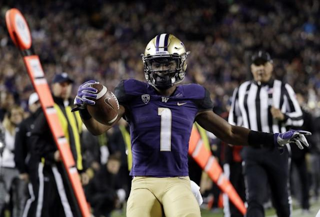 John Ross broke the official NFL combine record for the 40-yard dash. (AP)