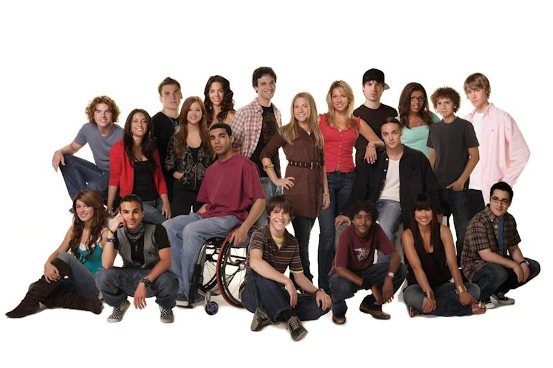 "The cast of ""Degrassi: The Next Generation,"" a popular spin-off series that was spawned after Kit Hood and Linda schuyler's original series.  (Photo: Everett Collection)"