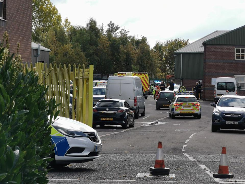 Police response to Bridges Business Park in Horsehay included armed officers (Liam Ball)