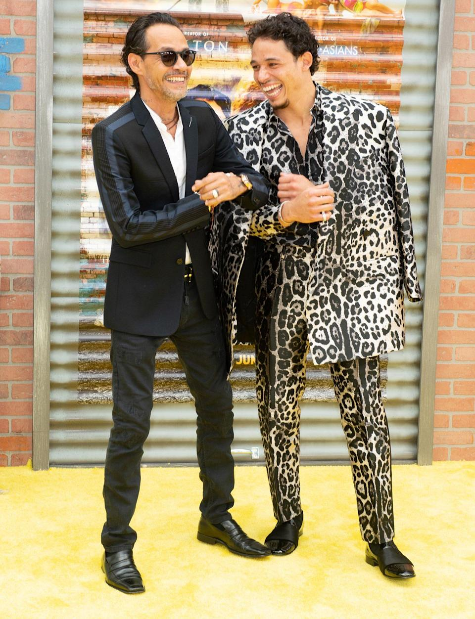 <p>Marc Anthony and Anthony Ramos are in great spirits at the opening night premiere of <em>In The Heights</em> during the 2021 Tribeca Festival at United Palace Theater in N.Y.C. on June 9.</p>