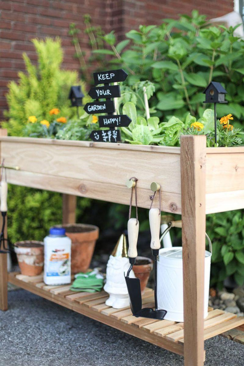 "<p>Go for a design with a garden bed on top and a shelf for supplies on the bottom! Take a cue from Inspired By Charm to make this convenient setup that's perfect if you're lacking the space for a garden plot. </p><p><em><a href=""https://inspiredbycharm.com/4-steps-to-a-raised-vegetable-garden/"" rel=""nofollow noopener"" target=""_blank"" data-ylk=""slk:Get the tutorial at Inspired By Charm »"" class=""link rapid-noclick-resp"">Get the tutorial at Inspired By Charm »</a></em></p>"