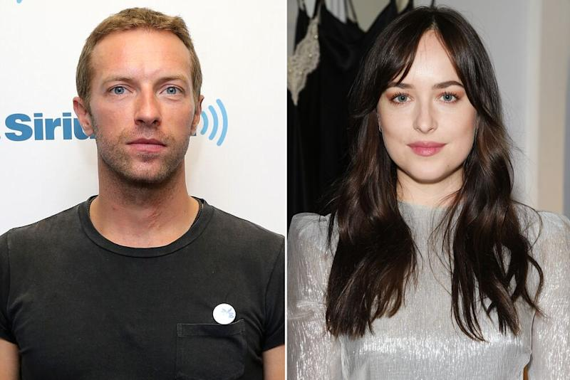 Chris Martin and Dakota Johnson | Neilson Barnard/Getty Images; Venturelli/WireImage