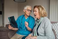 """<span>If your nipple is starting to turn inward when it wasn't retracted before, it could be a sign of inflammatory breast cancer, which is much more aggressive than other types of breast cancer, says the </span><a href=""""https://www.cancer.org/cancer/breast-cancer/understanding-a-breast-cancer-diagnosis/types-of-breast-cancer/inflammatory-breast-cancer.html"""" rel=""""nofollow noopener"""" target=""""_blank"""" data-ylk=""""slk:American Cancer Society"""" class=""""link rapid-noclick-resp""""><span>American Cancer Society</span></a><span>. Because of that, you should book an appointment with your doctor as soon as possible to discuss any concerning changes. </span>"""