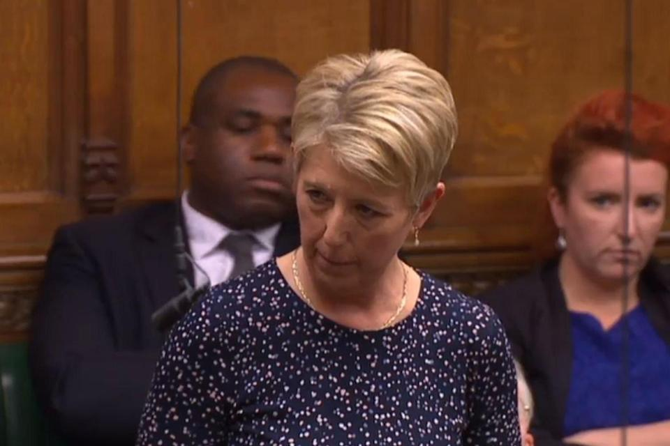 Angela Smith was refused an intervention by Mr Corbyn (Parliament TV)