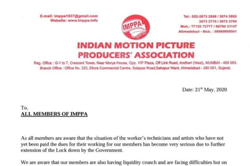 Producers' Association Requests Members to Clear Unpaid Dues of Employees and Artists