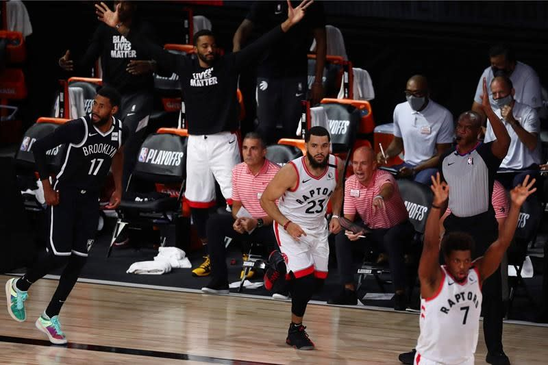 VanVleet pours in 30 points to lift Raptors to 134-110 win over Nets in Game 1