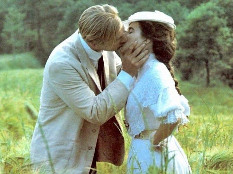 Helena Bonham Carter and Julian Sands A Room with a View
