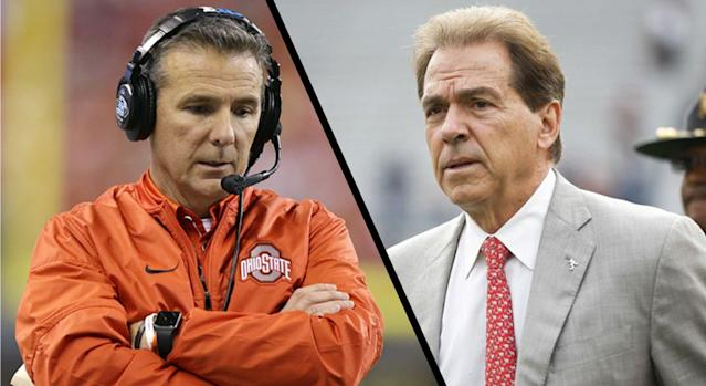 Urban Meyer and the Buckeyes were left out in the cold by the committee as Nick Saban's Crimson Tide were slotted into the final spot of the CFP. (AP)