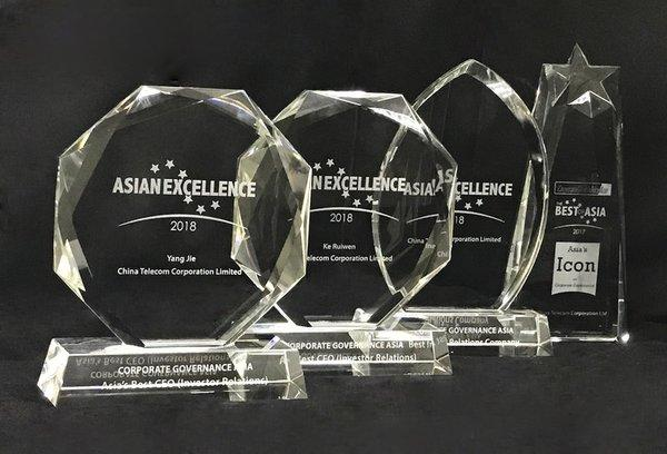 "China Telecom Honored with ""The Best of Asia - Icon on Corporate Governance"" and ""Best Investor Relations"""