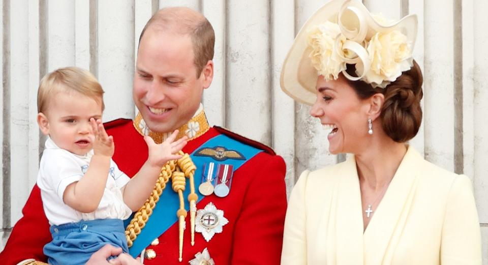 Prince William was seen holding son Louis at Trooping the Colour last Saturday [Image: Getty]